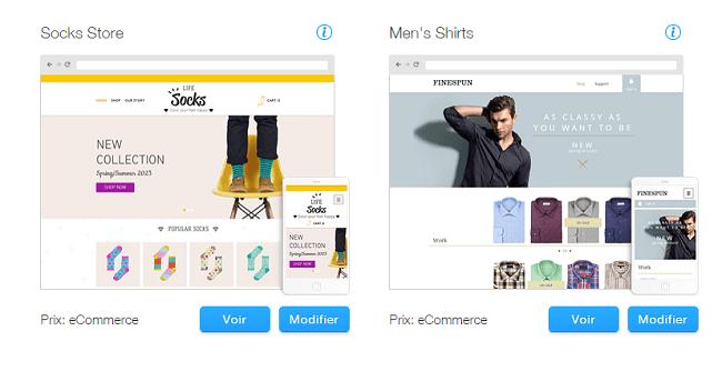 Templates de Sites HTML pour Boutique en Ligne   WIX
