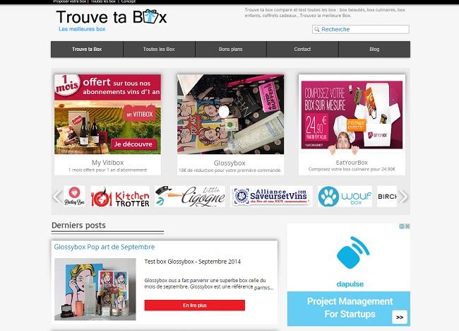 Trouve ta box : comparateur de box et coffrets cadeaux