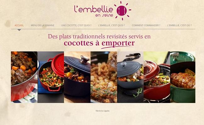 L'embellie en seine : plats traditionnels revisités servis en cocottes à emporter
