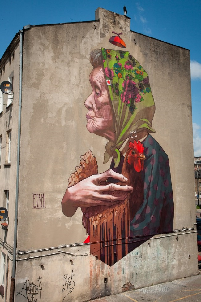 Art Urbain : madam chicken par Etam