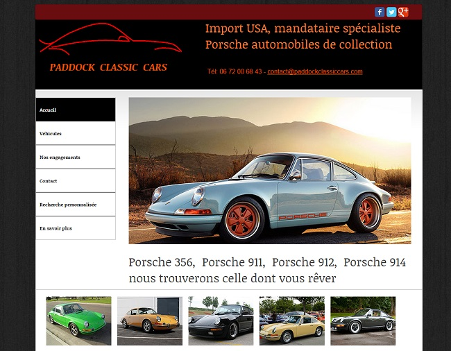 Paddock Classic Cars : Import USA, spécialiste Porshe de collection