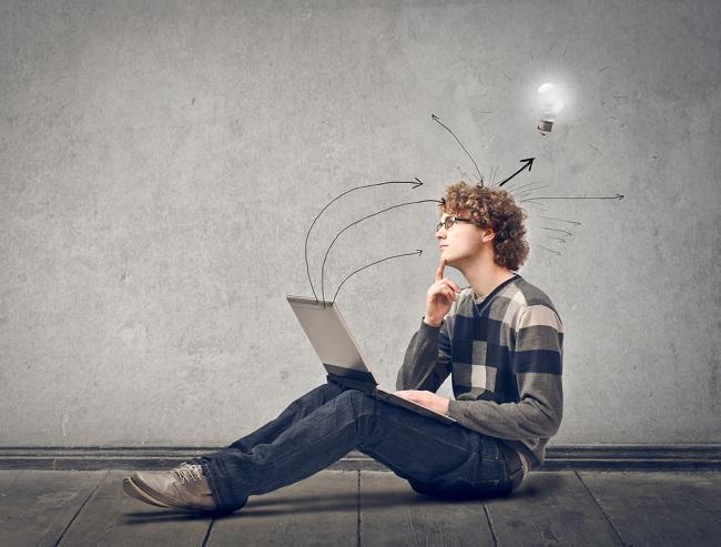 Blogueur qui trouve une idée