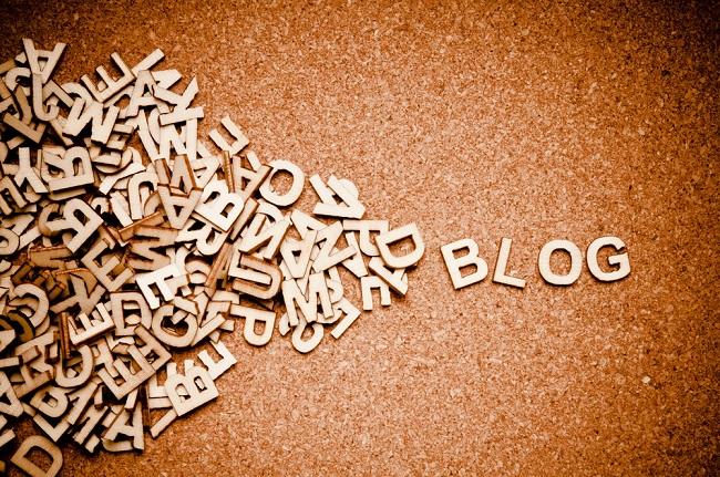 Blog composé de lettres