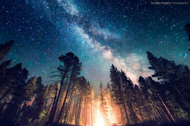 Night Sky in New Mexico par Knate Myers