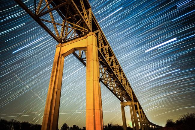 Reedy Point bridge, Delaware par Wes Bunton