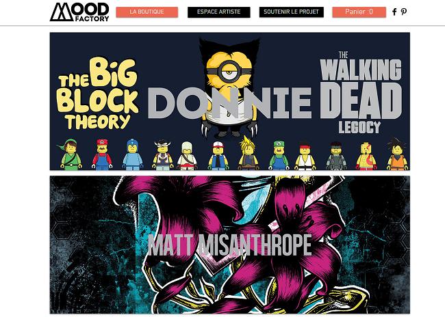 Site Wix : Le Mood Store