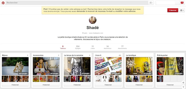 Shadé sur Pinterest