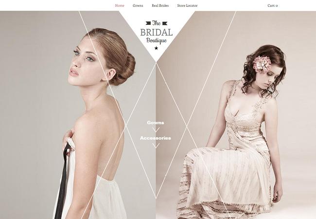 Boutique de robe de mariée - template Wix