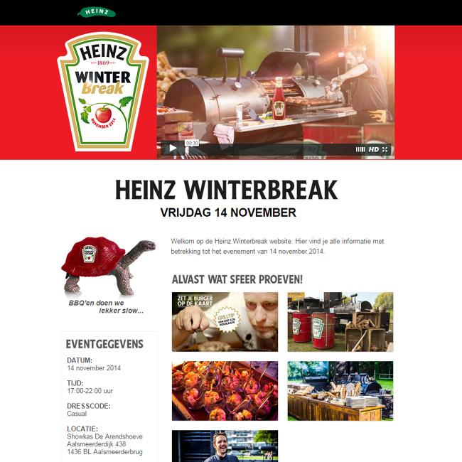 Landing page de Heinz créée avec Wix