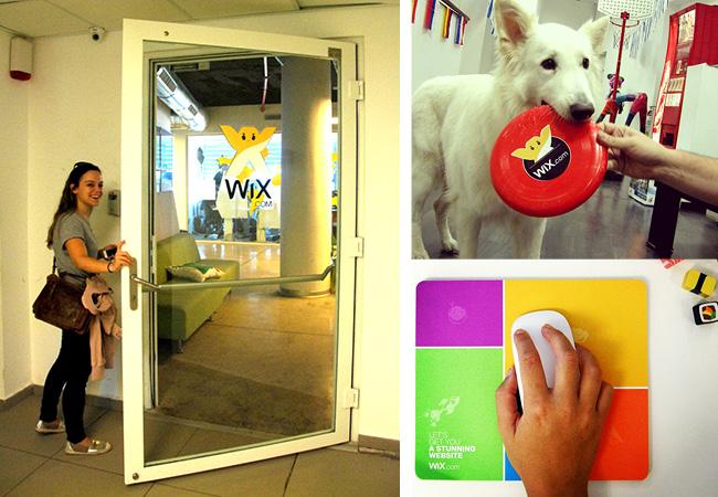 Entrée des bureaux de Wix