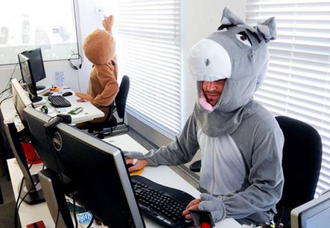 Employés de Wix déguisés