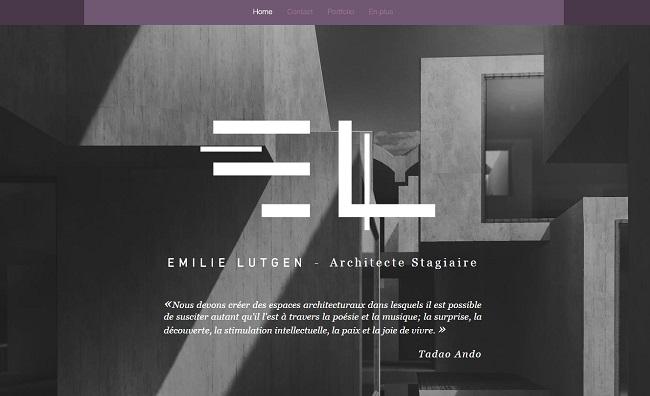 Site d'Émilie - Architecte