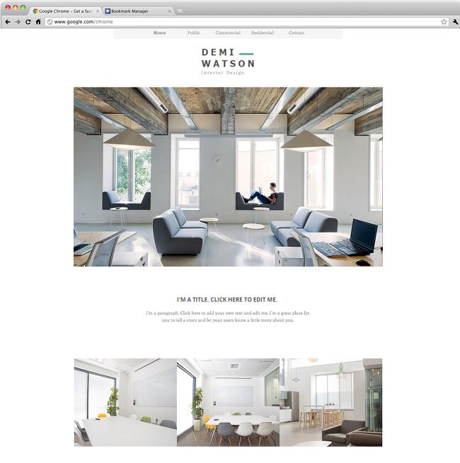 Template Wix : design d'intérieur