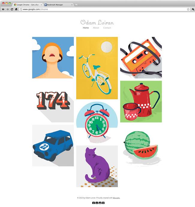 Template Wix pour illustrateurs