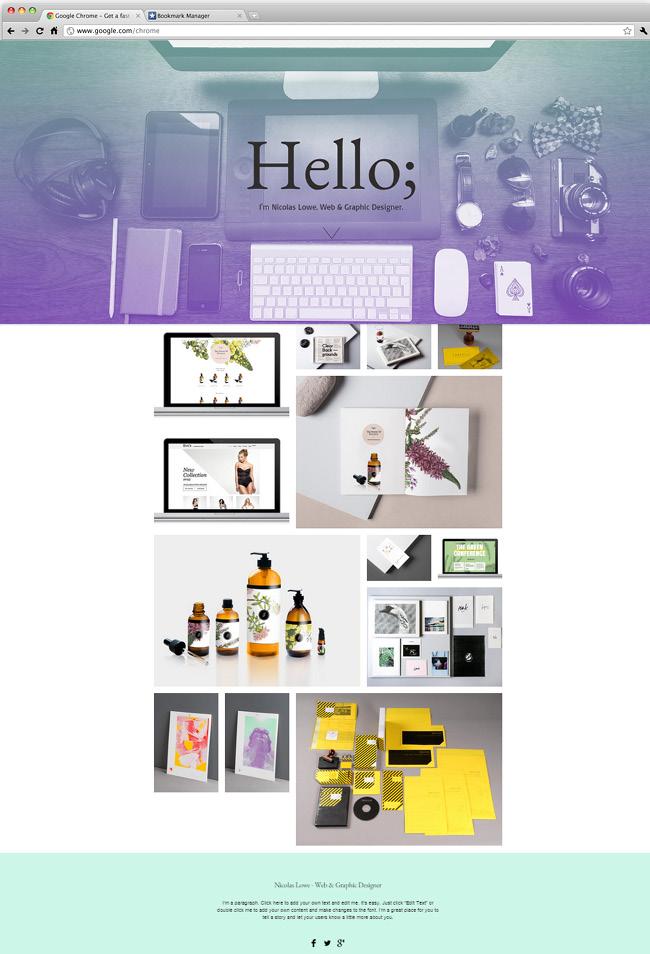 Template Wix Web designer