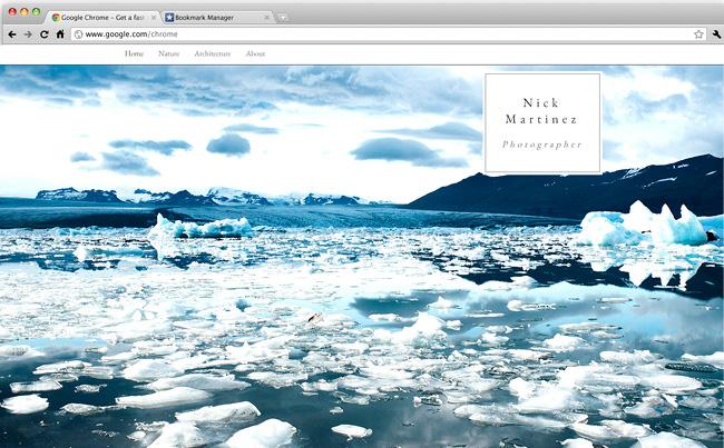 Template Wix pour photographe Minimaliste