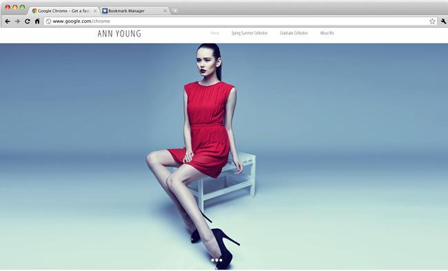 Template Wix de fashion designer