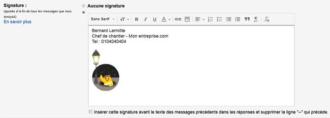 signature Gmail
