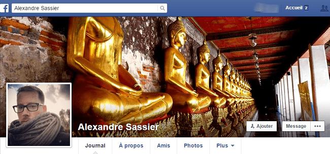Alexandre Sassier sur Facebook