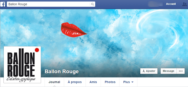 Ballon Rouge sur Facebook