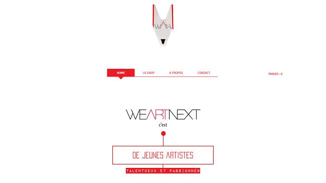 We Art Next - Site Wix avec des typographies créatives