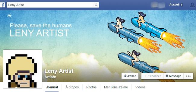 Leny Artist sur Facebook