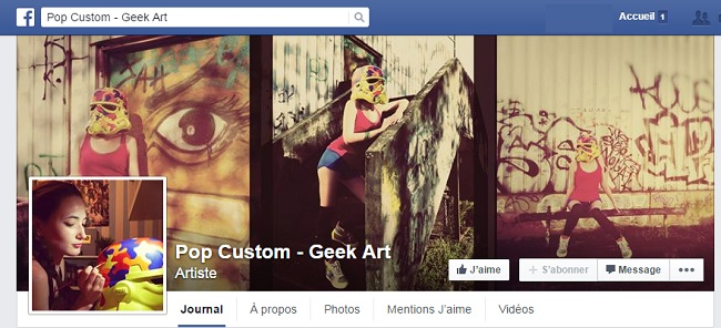 Pop Custom sur Facebook