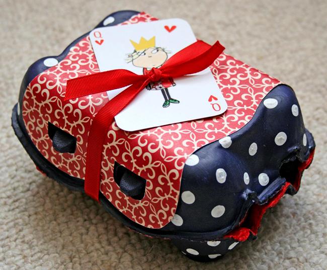 Boîte d'œufs -papier cadeau