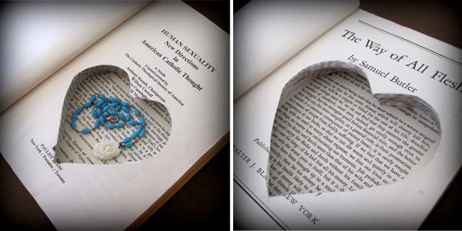 Le livre ancien - papier cadeau