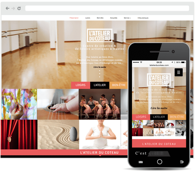 Site et site mobile de l'atelier du Coteau