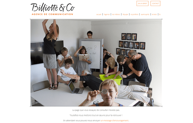 404 Agence de communication Billiotte Co à Nancy Metz Lorraine