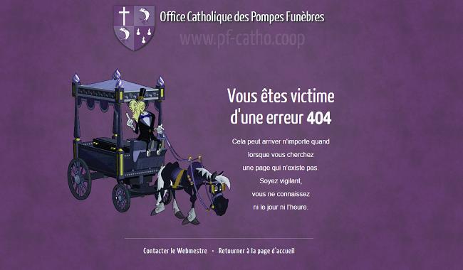 404 Erreur offcie catholique des pompes funèbres