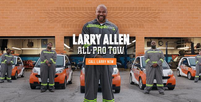 All Pro Tow Larry Allen Wix.com s Super Bowl Ad