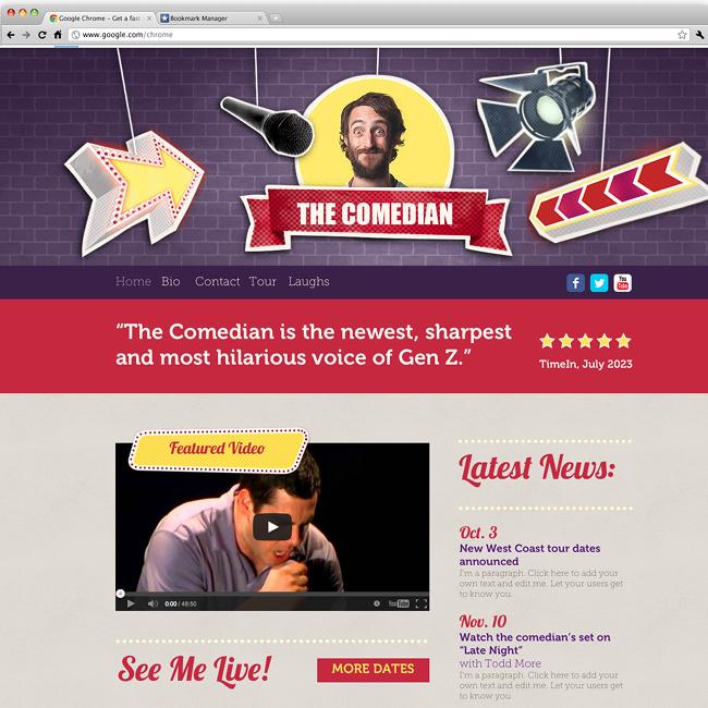 Le comédien: template wix