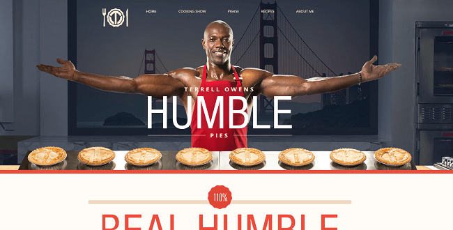 Humble Pies Terrell Owens Wix.com Super Bowl Ad