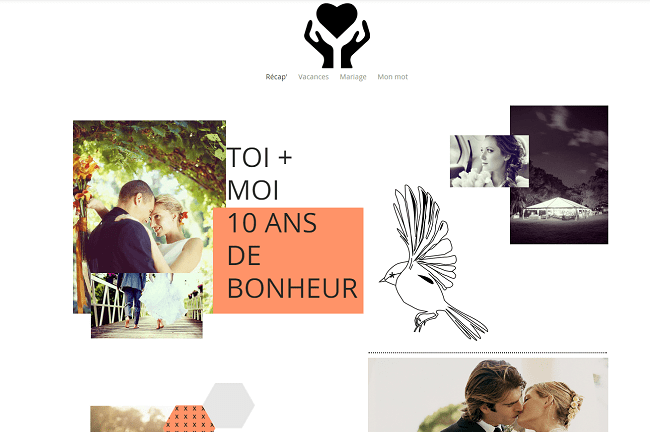 Template Wix photographe romantique