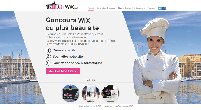 Site du concours Wix-PBLV