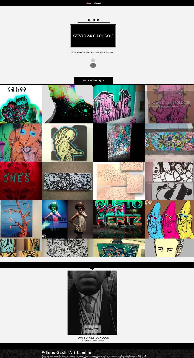 Web Design Studio Template  Gusto Art London >>