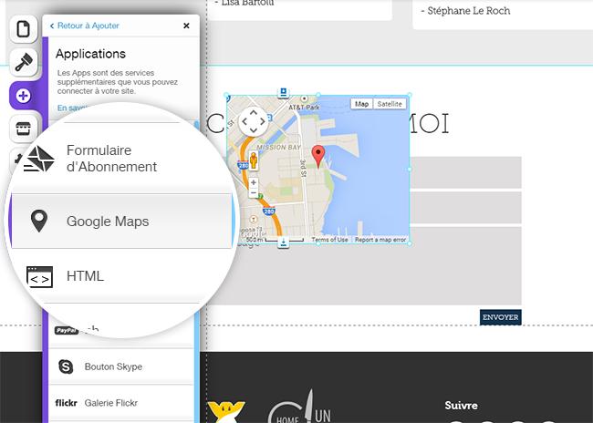 Mélangez vos infos de contact avec une carte Google Maps