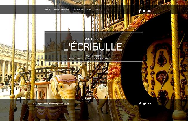 ÉCRIBULLE  Cécile GEORGES  rédactrice à Bordeaux depuis 10 ans