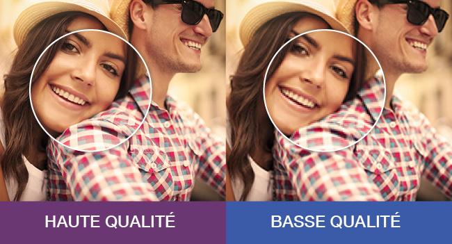 Qualité supérieure vs basse qualité