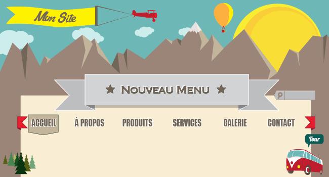 Nouvelles options de menu