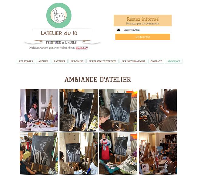 Latelier de peinture et dessin à Pau   AMBIANCE