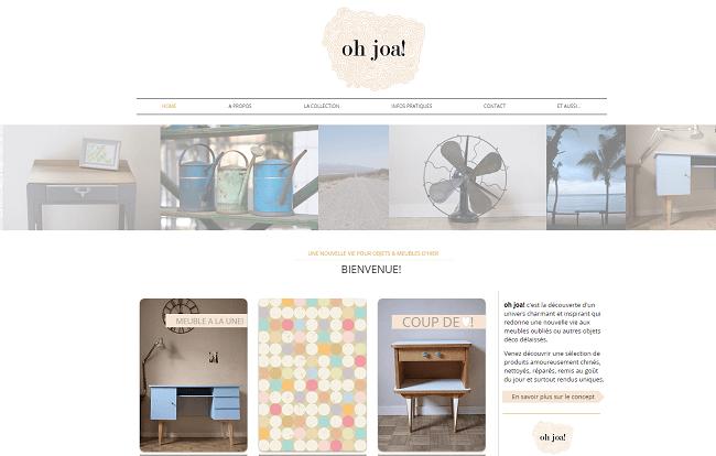 oh joa  www.ohjoa.fr   Objets rétro   meubles vintages rénovés.