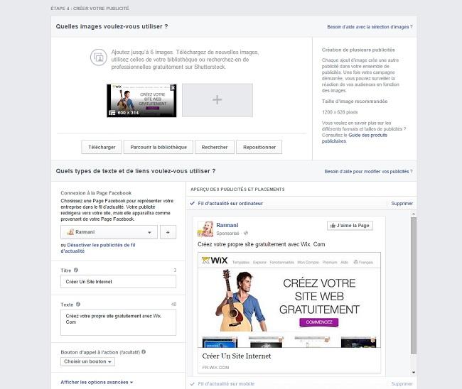 Votre publicité sur Facebook
