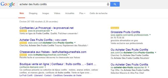 acheter des fruits confits Recherche Google