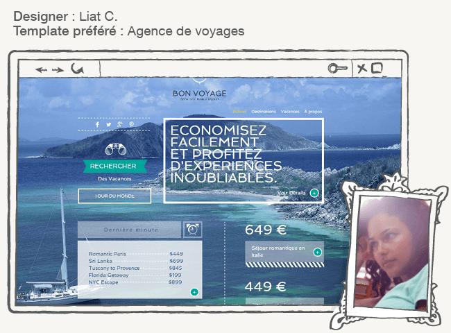 Template Wix agence de voyage