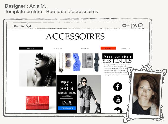 Template Wix boutique d'accessoires