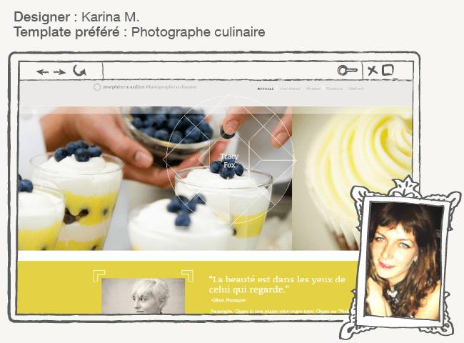 Tempalte WIx photographe culinaire