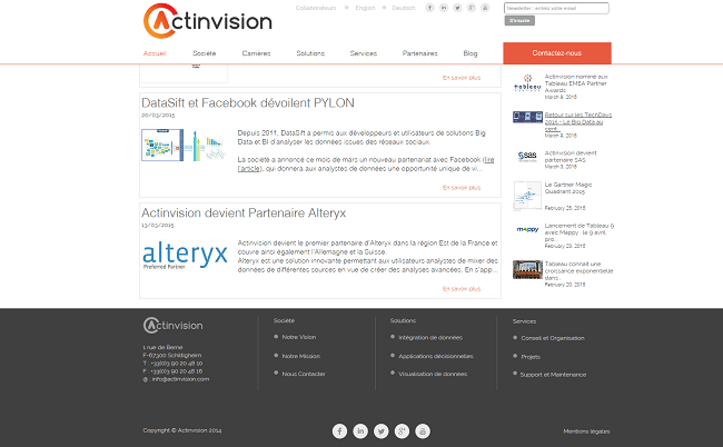 Actinvision   Spécialiste Business Intelligence   Data Visualization